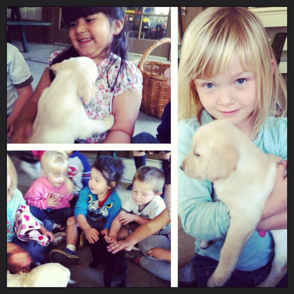 Preschool in Modesto CA | Children with Puppy